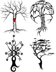 skeleton tree tattoos designs