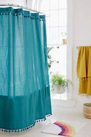 Turquoise Shower Curtains Pompom Shower Curtain Everything Turquoise