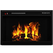 elite flame 33 inch led electric firebox fireplace insert