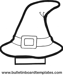 witch hat coloring page free download