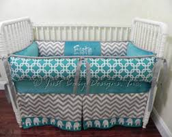 Blue And Yellow Crib Bedding Baby Quilts Elephant Crib Bedding Teal Yellow And
