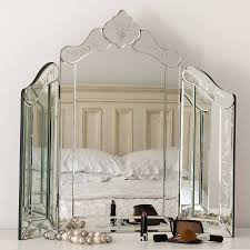 glass vanity table with mirror venetian dressing table mirrors home safe