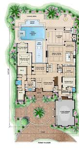 house plans with pool in center courtyard