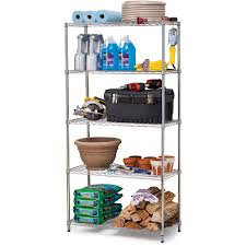 Commercial Bakers Rack Work Choice 5 Tier Commercial Wire Shelving Rack Zinc Walmart Com