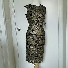 black dress company 49 new york company dresses skirts gold black lace