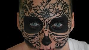 halloween pattern skull face paint tutorial youtube