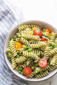 Pasta Salad Recipes With Italian Dressing Pesto Pasta Salad Recipe Simplyrecipes Com
