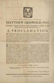 governor griswold s thanksgiving proclamation connecticuthistory org