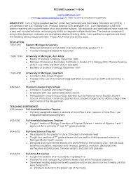 Teacher Resume Template Best Objective For Teacher Resume