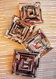 recyled magazine coasters i knew i was saving my magazines for a
