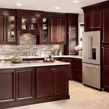 Luxury Cabinets Kitchen by Dark Cabinet Kitchens Red Bricks Gloss Color Cabinets Freezed