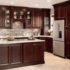 dark wood kitchen cupboards sandy white raised panel kitchen