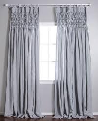 Curtains With Pom Poms Decor Smocked Curtain Pom Pom Linen Voile