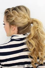 how to i french plait my own side hair side french braid ponytail