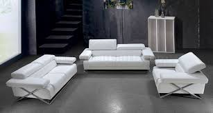 Modern Living Room Sets For Sale Modern Italian Leather 3pc Living Room Set Linx White