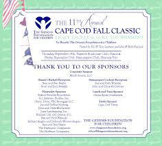cape cod fall classic genesis foundation for children