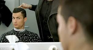 how to do cristiano ronaldo hairstyle cristiano ronaldo stars in new hair advert with balls of dandruff