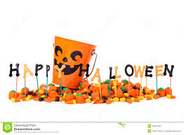happy halloween sign with candy u0026 candy bucket royalty free stock