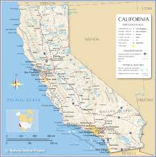 map of usa west coast show road map major tourist attractions maps