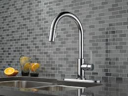 Kitchen Faucet Chrome - delta 9159 dst trinsic single handle pull kitchen faucet