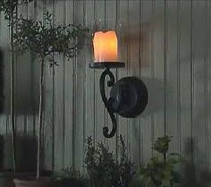 Flameless Candle Wall Sconce Set 2 Dining Room Http Www Cheapchicdecor Com Wall Decor Wall Candle