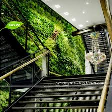 gnw glw077 artificial green plastic plants fake vertical garden