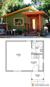 small modern cabin home plan and elevation 320 sft houseplant 890