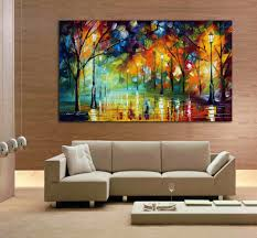 Simple Wall Paintings For Living Room Modern Abstract Flowers Print Painting For Living Room Wall