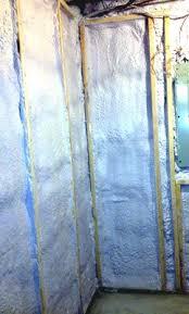 basement wall insulation applications using spray polyurethane foam