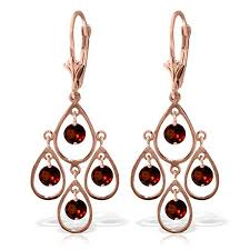 Garnet Chandelier Earrings 14k Gold 2 40ct Garnet Chandelier Earrings