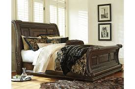 King Sleigh Bed Valraven King Sleigh Bed Furniture Homestore