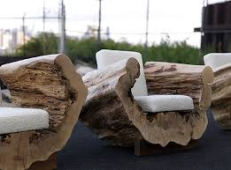 reclaimed wood seating furniture design cocoon chair andre joyau