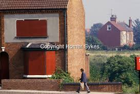 homes in the 1980s boarded up homes miners strike shirebrook derbyshire uk 1980s