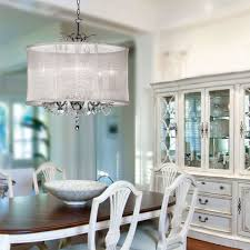 san francisco drum shade chandelier living room contemporary with