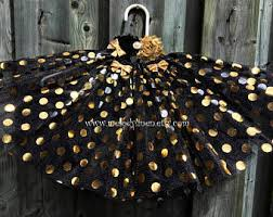 black and gold tutu etsy