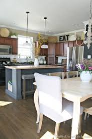 thrifty decor chick beadboard backsplash cozy kitchens i used her ideas for on top of my kitchen cabinets fashion