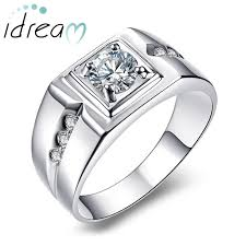 mens engagement ring men s engagement ring with cubic zirconia diamond accents