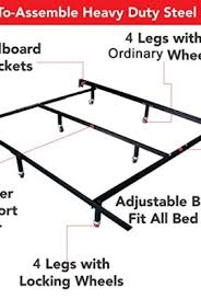 universal easy to assemble heavy duty steel metal bed frame with 4