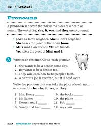 pronouns he she it we and they 3rd 4th grade worksheet
