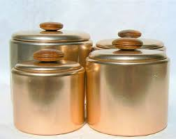 copper canister set kitchen mirro canisters etsy