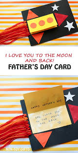 diy s day card to to make i you to the moon and