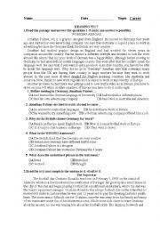 career test printable worksheets teaching worksheets quizzes 100