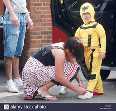 jade goody dresses her son bobby jack in a fancy dress costume