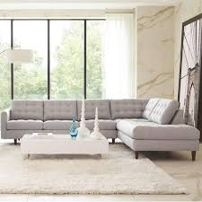 Sprintz Sofas Rowe Modern Mix Contemporary Sectional Sofa With Chaise Living