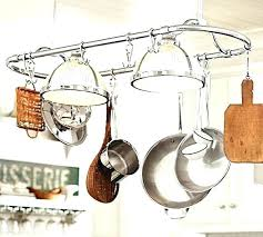 kitchen island pot rack lighting kitchen island pot rack lighting rustic light pot and pan rack