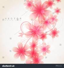 Pink Color Elegant Soft Pink Color Flowers Vector Stock Vector 83410255