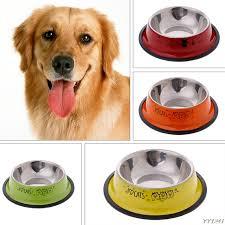 Dog Bowl Stainless Steel Anti skid Pet Dog Cat Food Water Bowl Pet
