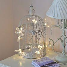 shabby chic decorative led butterfly metal bird cage wedding
