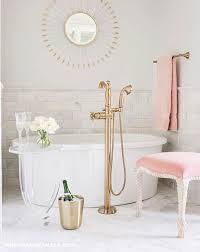 Pink Bathtub Pink Marble Eclectic Bathroom Apartment Therapy