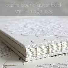 vintage guest book coptic bound guest book with vintage lace paperiaarre